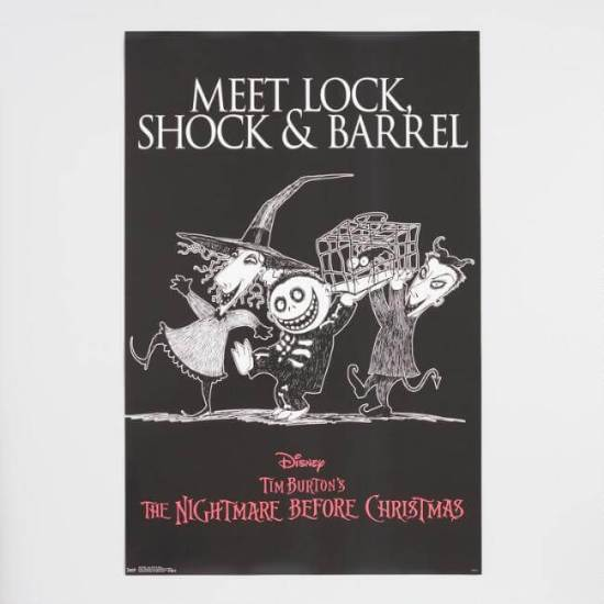 Disney's Nightmare Before Christmas Lock Shock Barrel Poster