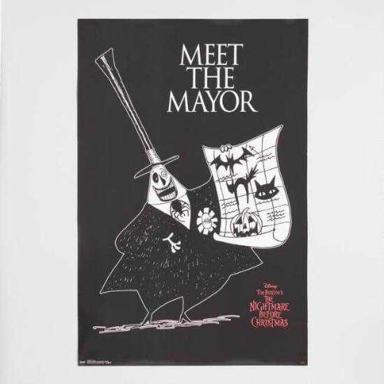 Disney's Nightmare Before Christmas Meet The Mayor Poster