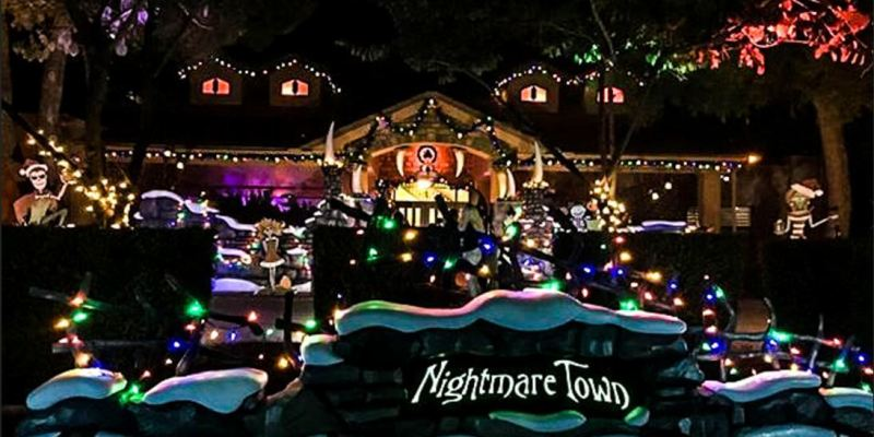 at home imagineering nightmare town nightmare before christmas inspired experience in az - Night Before Christmas Decorations