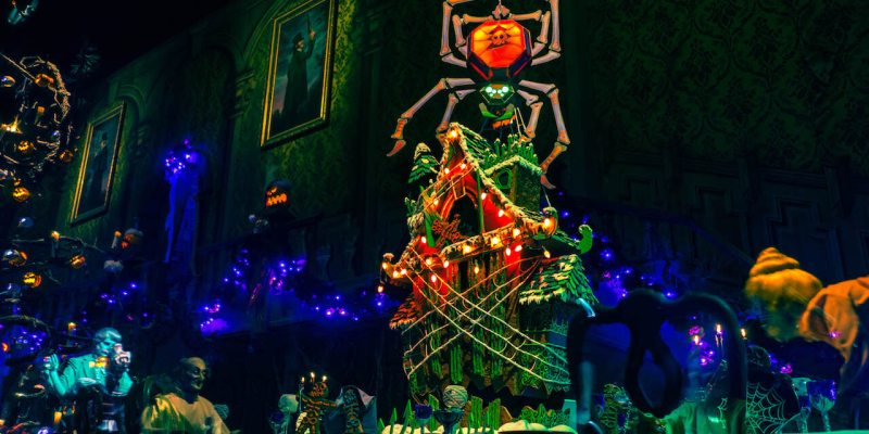 2018 haunted mansion holiday gingerbread house debuts at disneyland resort for start of halloween time