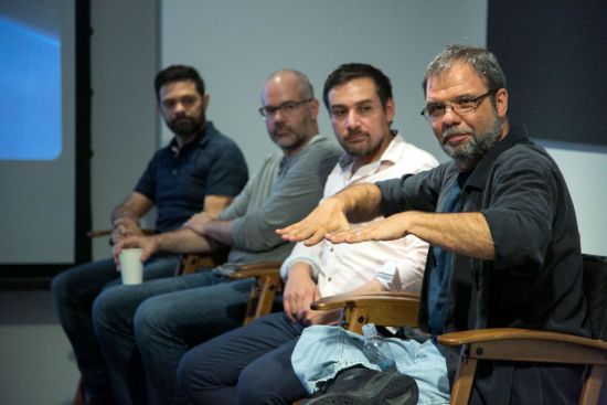 Head of Animation Renato dos Anjos, Production Designer Cory Loftis, Crowds Supervisor Moe El-Ali and Production Designer Dave Komorowski.