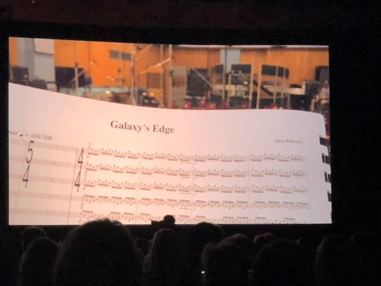 Galaxy's Edge music sheet exclusively for the themed lands