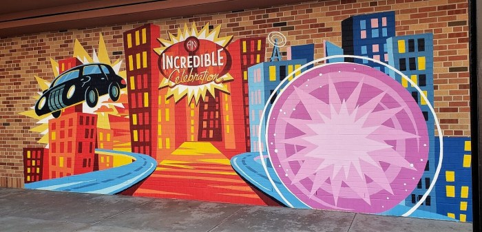 Incredibles Wall Disney World