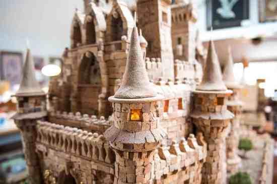 Cinderella Castle made of Corks