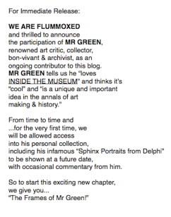 Mr. Green Presents, 2011.