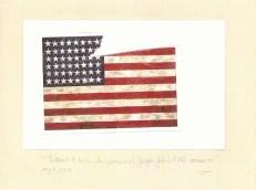 Tattered & Torn, The Postcard of Jasper Johns' 'Flag' Carries On (Part I) 1, Jefre Harwoods. 2012