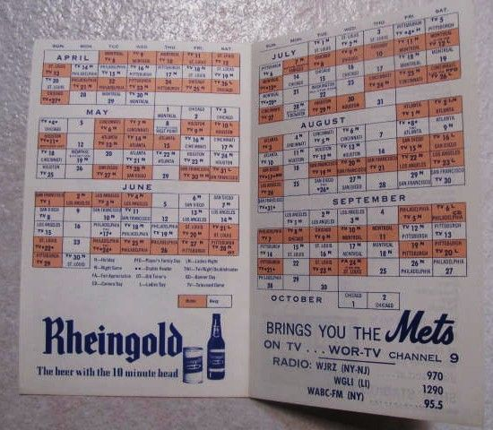 Lot Detail 1969 NEW YORK METS BASEBALL OFFICIAL FOLD OUT