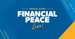 Logo for virtual event financial peace live