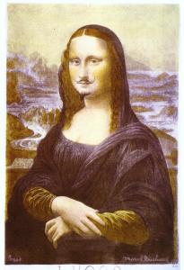 Marcel Duchamp, La Gioconda coi baffi, 1919