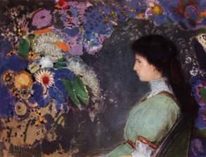Odilon Redon, Ritratto di Violette Heymann, 1909-1910, pastello 72 x 92,5