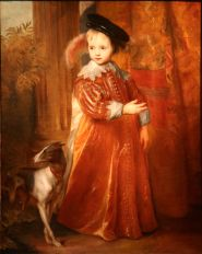Anthony Van Dick, Guillame II as a child with a dog