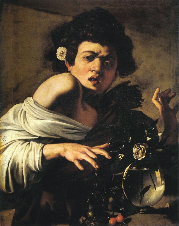 Caravaggio, boy bitten by a lizard