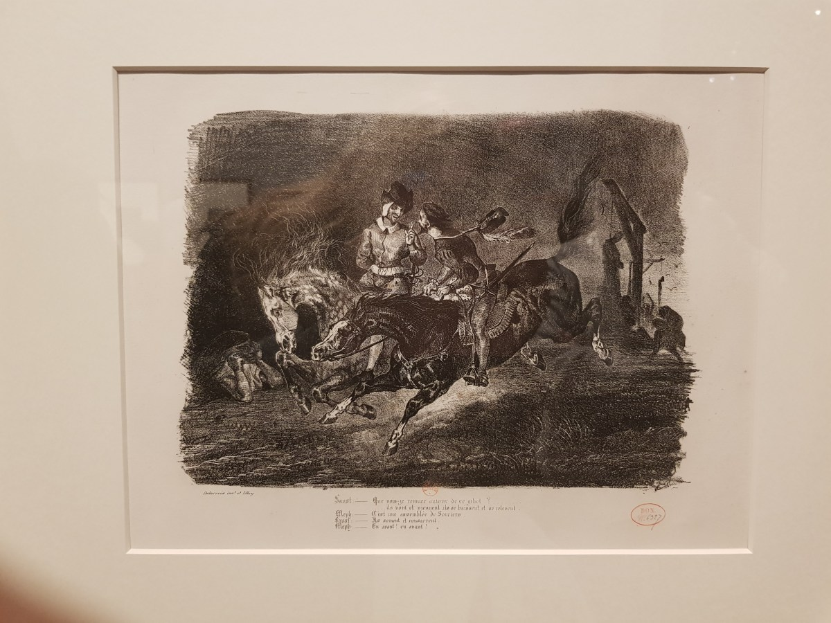 Eugene Delacroix, scena dal Faust