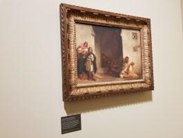 Une rue a Meknes-painted by Delacroix