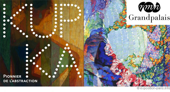 Banner of the exibition -Kupka pionnier de l'abstraction- in Paris at Grand Palais until July 30 th