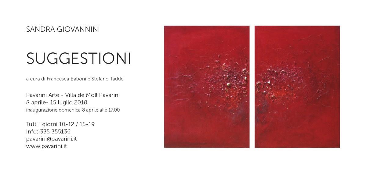 Invitation to the exibition Suggestioni in Reggio Emilia