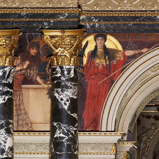 Particolare, scalone principale del Kunsthistorisches Museum