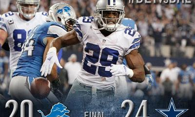 Cowboys Blog - Cowboys Beat Lions 24-20 in Wild Card Round