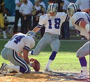 Cowboys Blog - Cowboys CTK: Chris Boniol Kicks #18 Through The Crossbars 1