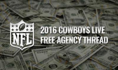 NFL Updates - 2016 Cowboys Free Agency Live Updates
