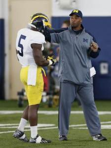 S Coach Greg Jackson and S Jabrill Peppers