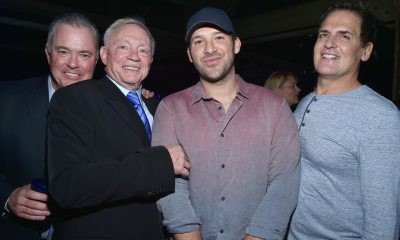 Tony Romo, Jerry Jones, Stephen Jones, Mark Cuban