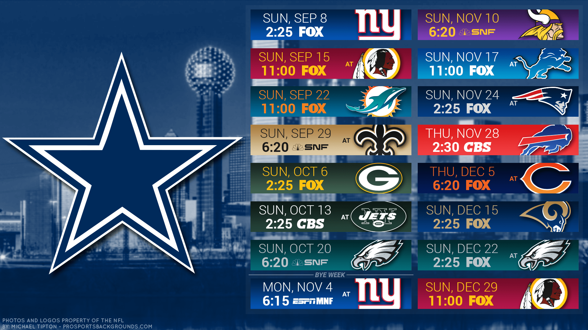 Dallas Cowboys Schedule 2020.Dallas Cowboys 2019 Schedule Way Too Early Win Loss Game