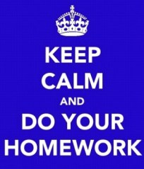 Keep calm Homework