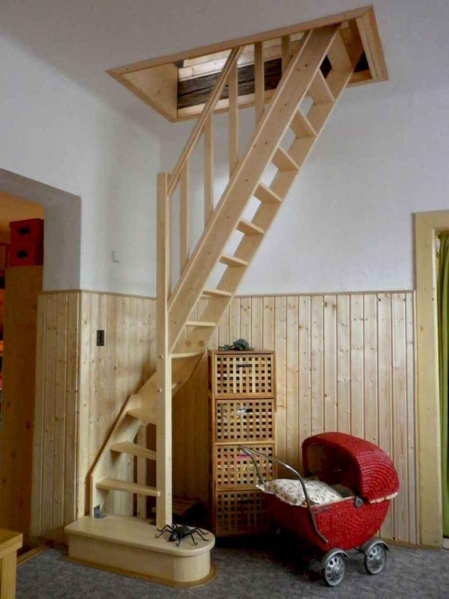 01 Clever Loft Stair Design for Tiny House Ideas