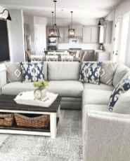 04 Cozy Modern Farmhouse Living Room Decor Ideas