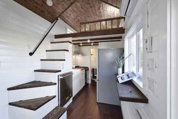 07 Clever Loft Stair Design for Tiny House Ideas
