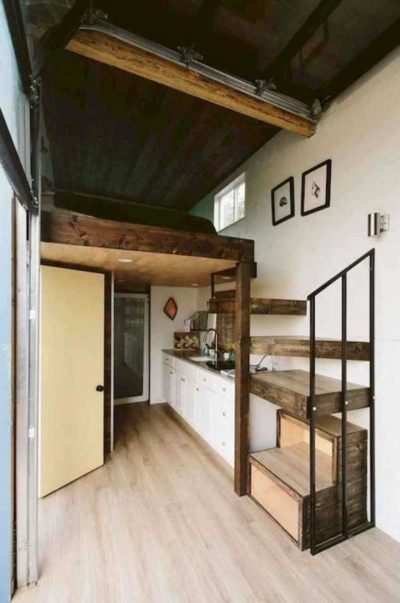 08 Clever Loft Stair Design for Tiny House Ideas