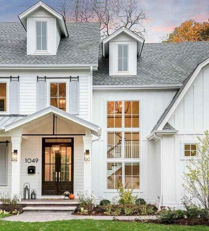 34 Awesome Modern Farmhouse Exterior Design Ideas