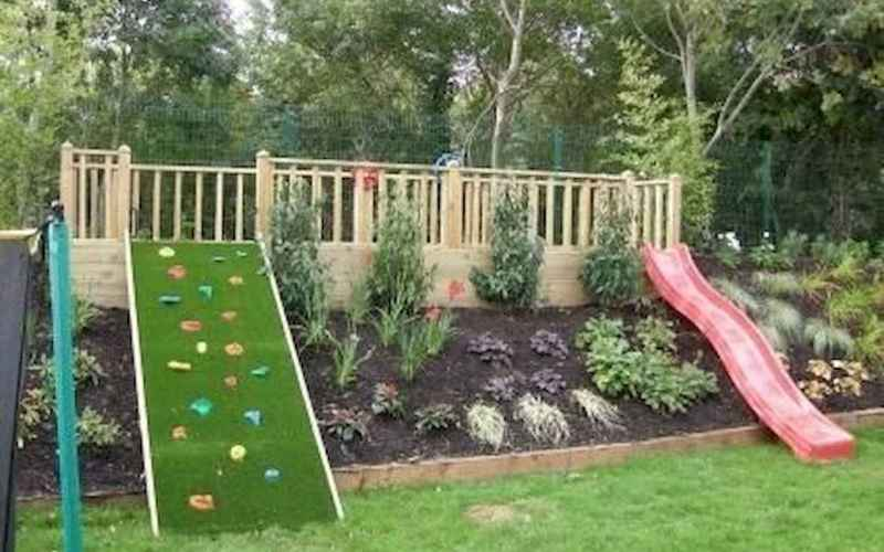 50 Exciting Small Backyard Playground Kids Design Ideas