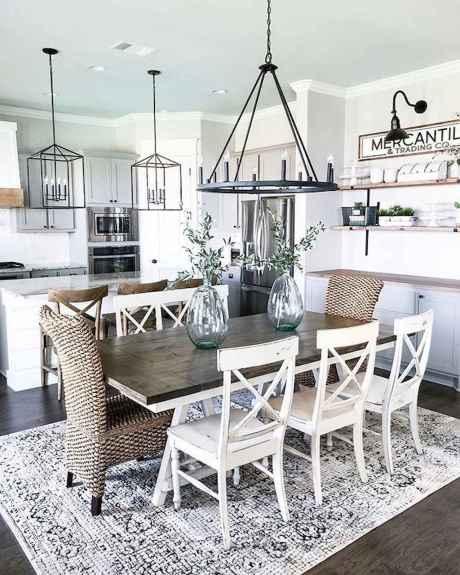 54 Beautiful Farmhouse Dining Room Table Design Ideas