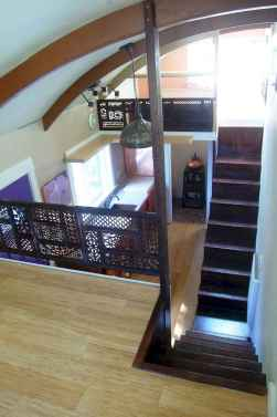 55 Clever Loft Stair Design for Tiny House Ideas