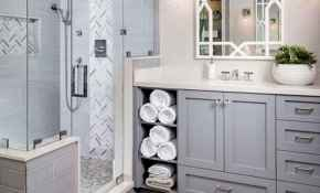 56 Modern Farmhouse Master Bathroom Remodel Ideas