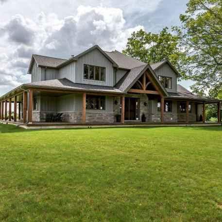 65 Awesome Modern Farmhouse Exterior Design Ideas