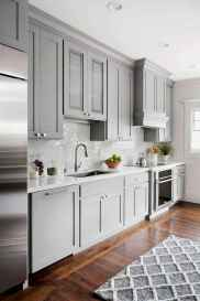 01 Incredible Farmhouse Gray Kitchen Cabinet Design Ideas