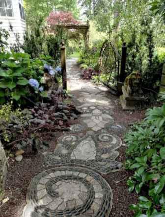 02 Beautiful DIY Mosaic Garden Path Decorations For Your Landscape Inspiration