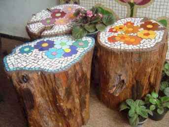 04 Excellent DIY Mosaic Garden Decoration Ideas for Front and Backyard Landscaping