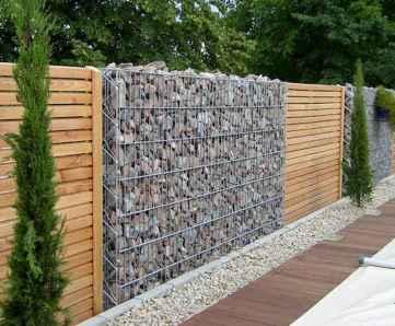 05 Fabulous Gabion Fence Design for Garden Landscaping Ideas