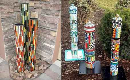 06 Excellent DIY Mosaic Garden Decoration Ideas for Front and Backyard Landscaping