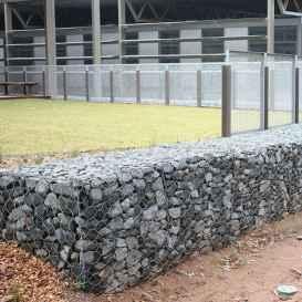 12 Fabulous Gabion Fence Design for Garden Landscaping Ideas