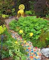 17 Beautiful DIY Mosaic Garden Path Decorations For Your Landscape Inspiration