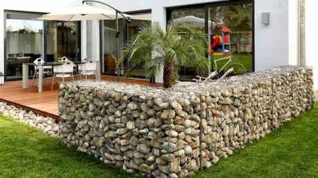18 Fabulous Gabion Fence Design for Garden Landscaping Ideas