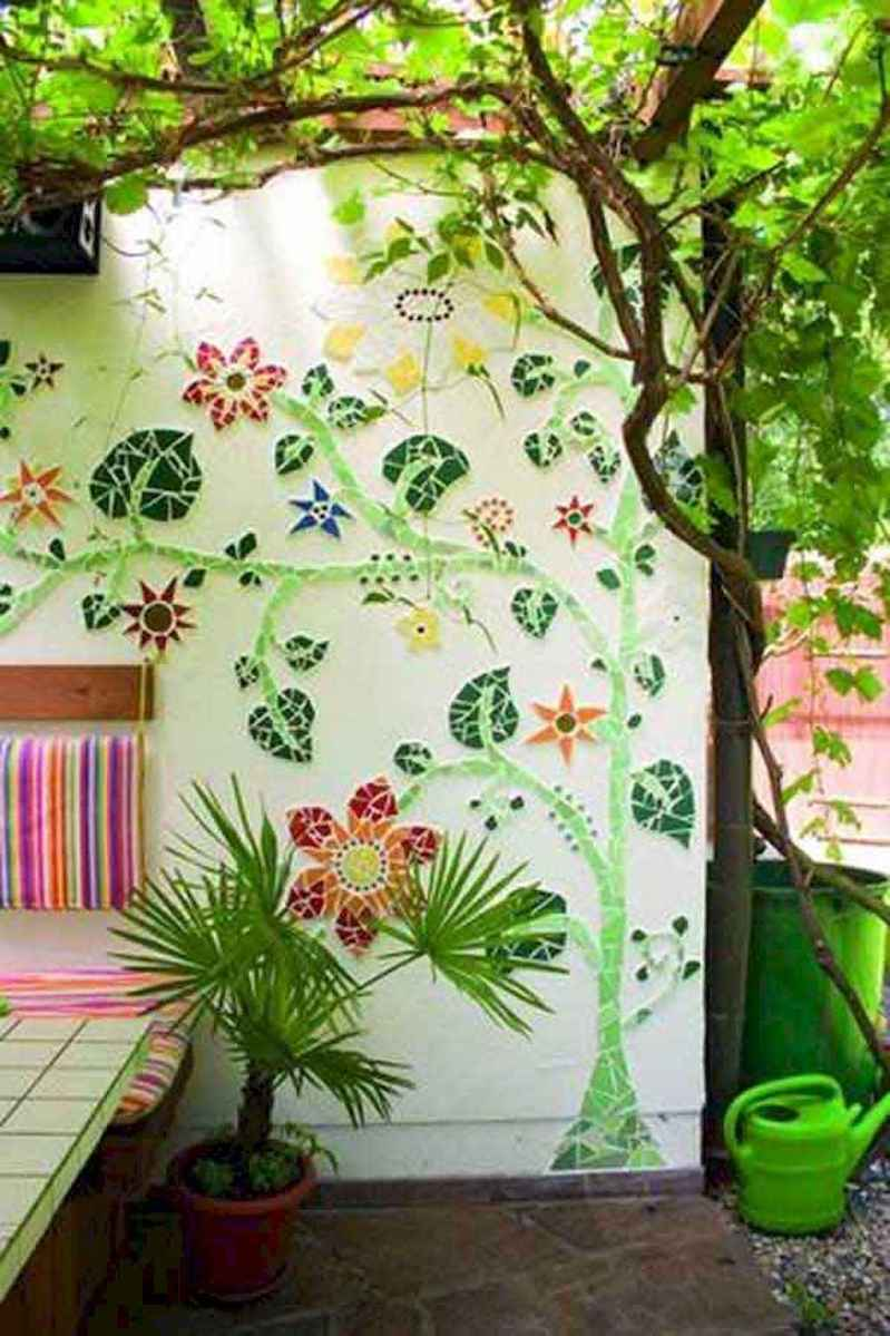 19 Excellent DIY Mosaic Garden Decoration Ideas for Front and Backyard Landscaping