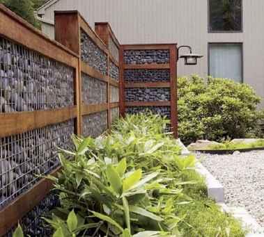 23 Fabulous Gabion Fence Design for Garden Landscaping Ideas