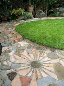 25 Beautiful DIY Mosaic Garden Path Decorations For Your Landscape Inspiration