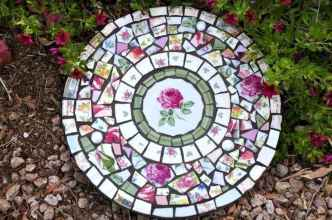 27 Excellent DIY Mosaic Garden Decoration Ideas for Front and Backyard Landscaping